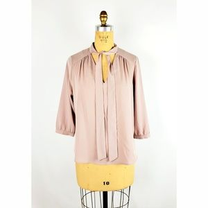 monteau Nude with Neck Tie Blouse